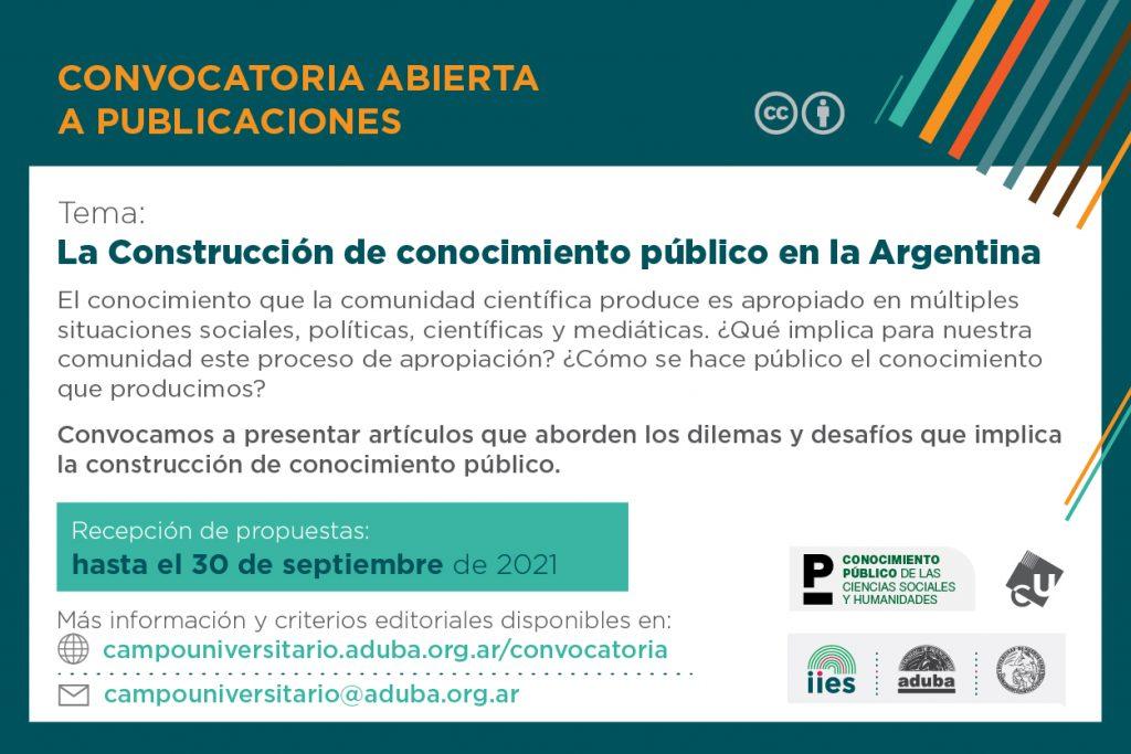 Convocatoria «La construcción de conocimiento público en la argentina»